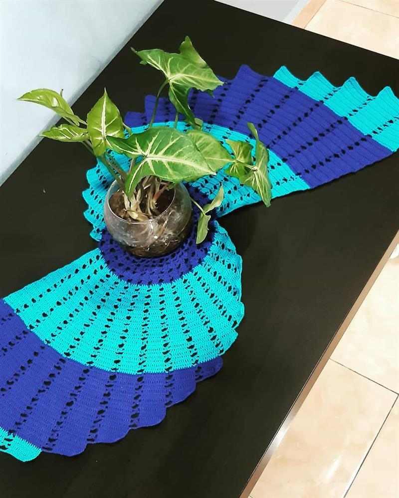 caminho de mesa espiral