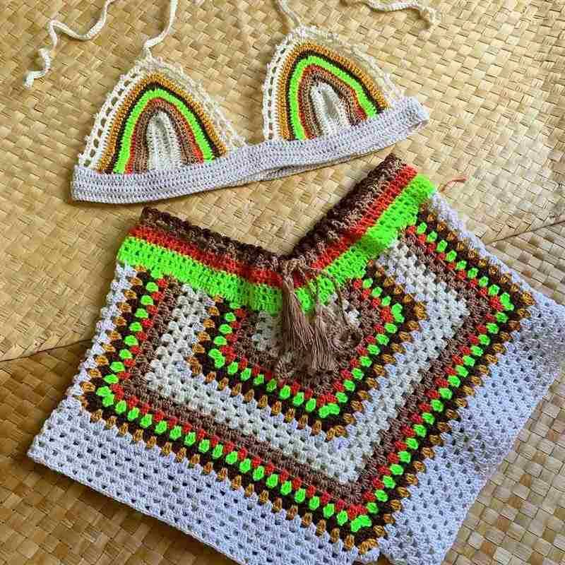 Conjunto de crochê feminino