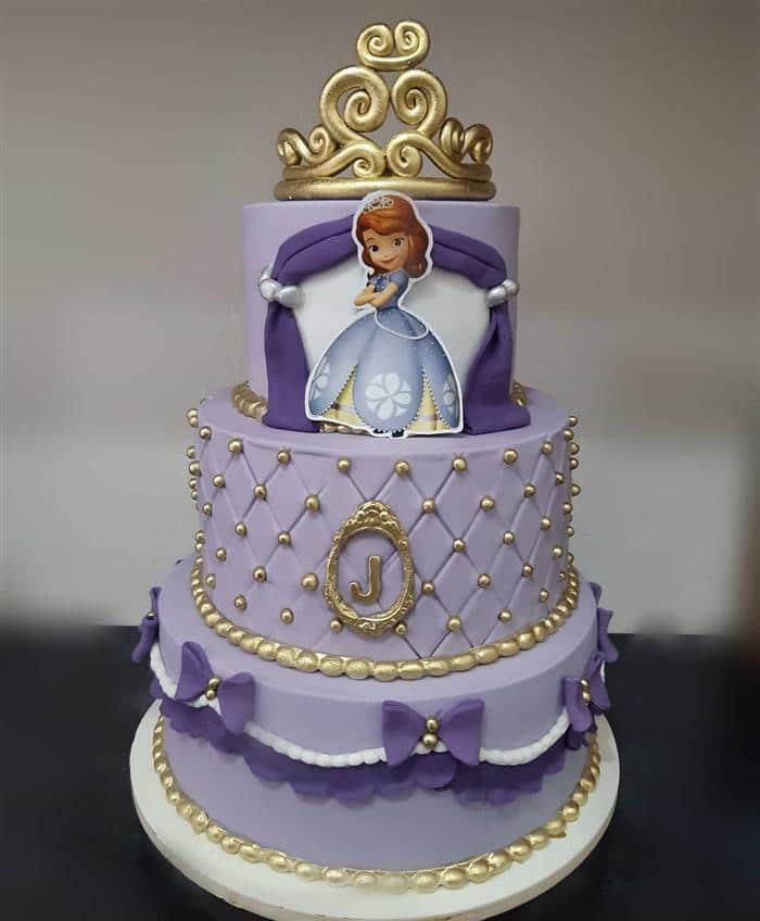 Bolo da Princesa Sofia luxo