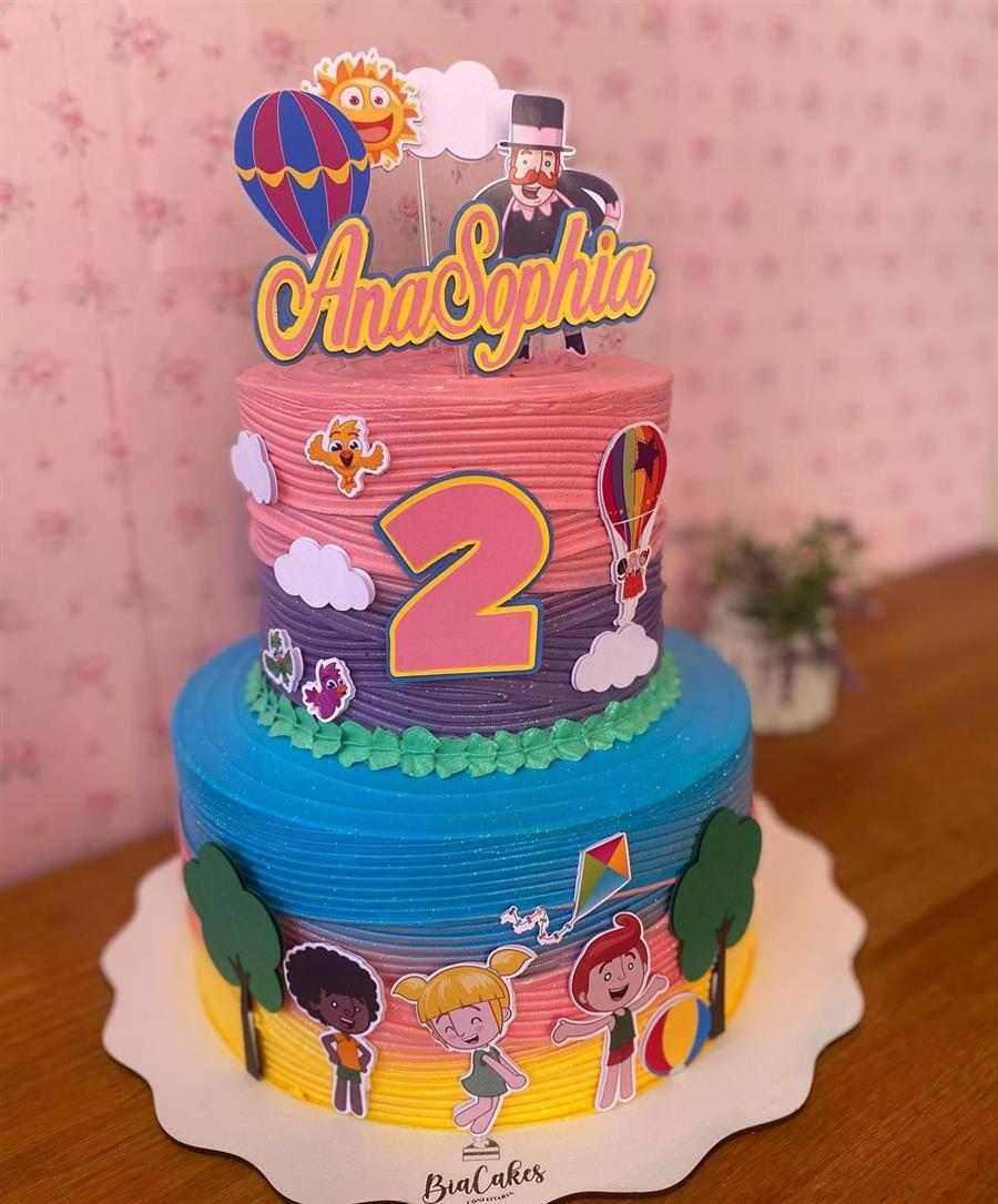bolo mundo bita para aniversario de 2 anos