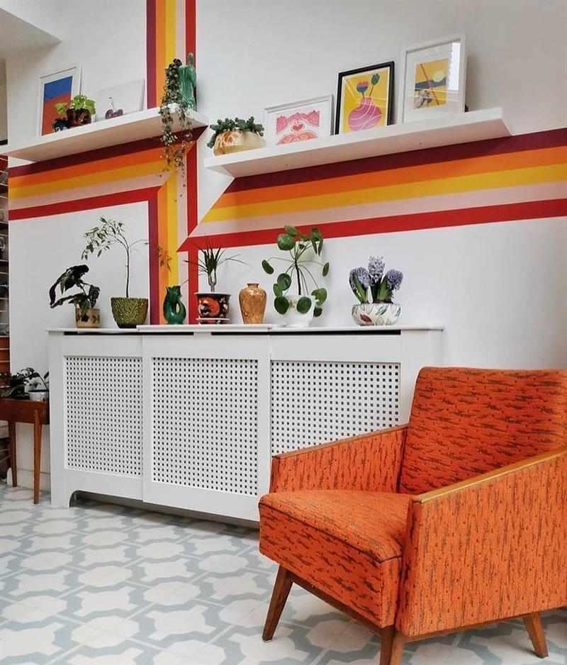 pintar a parede com fita