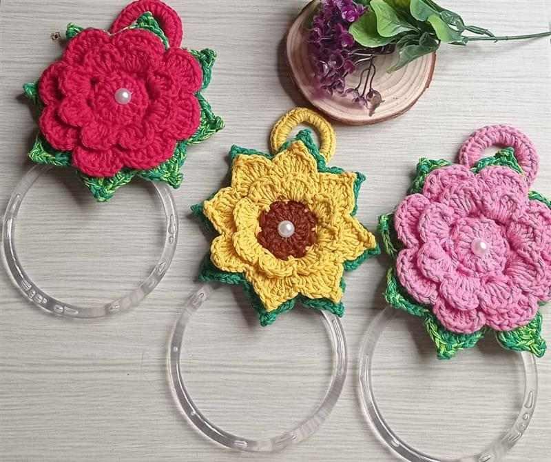 porta pano de prato flor
