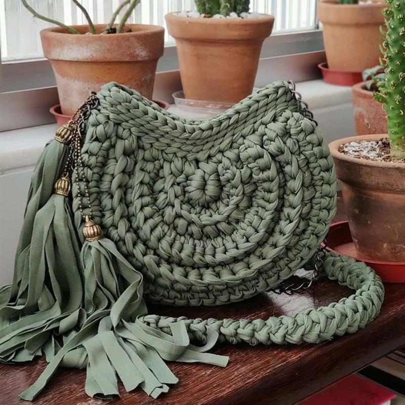 Modelo de bolsa de crochê