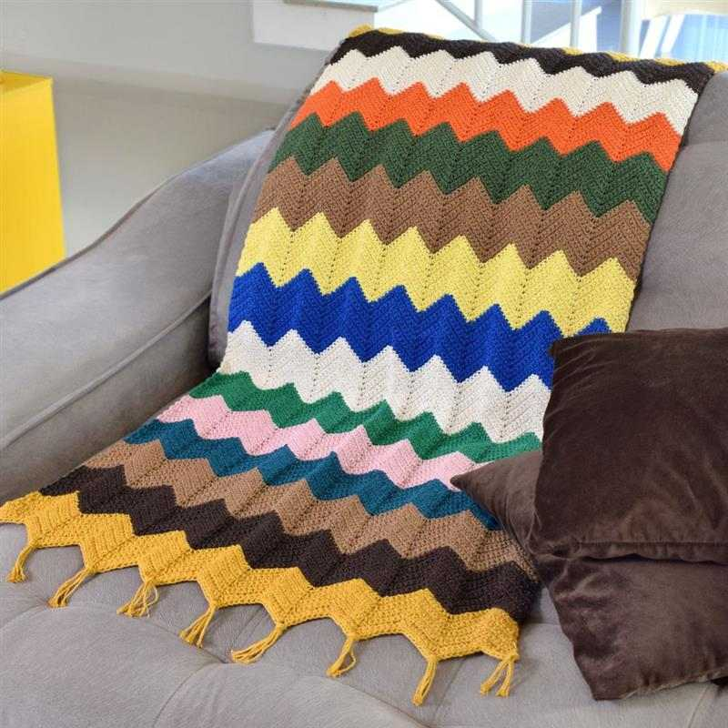 Manta de crochê para sofá