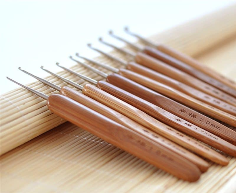 alumínio com cabo de bambu