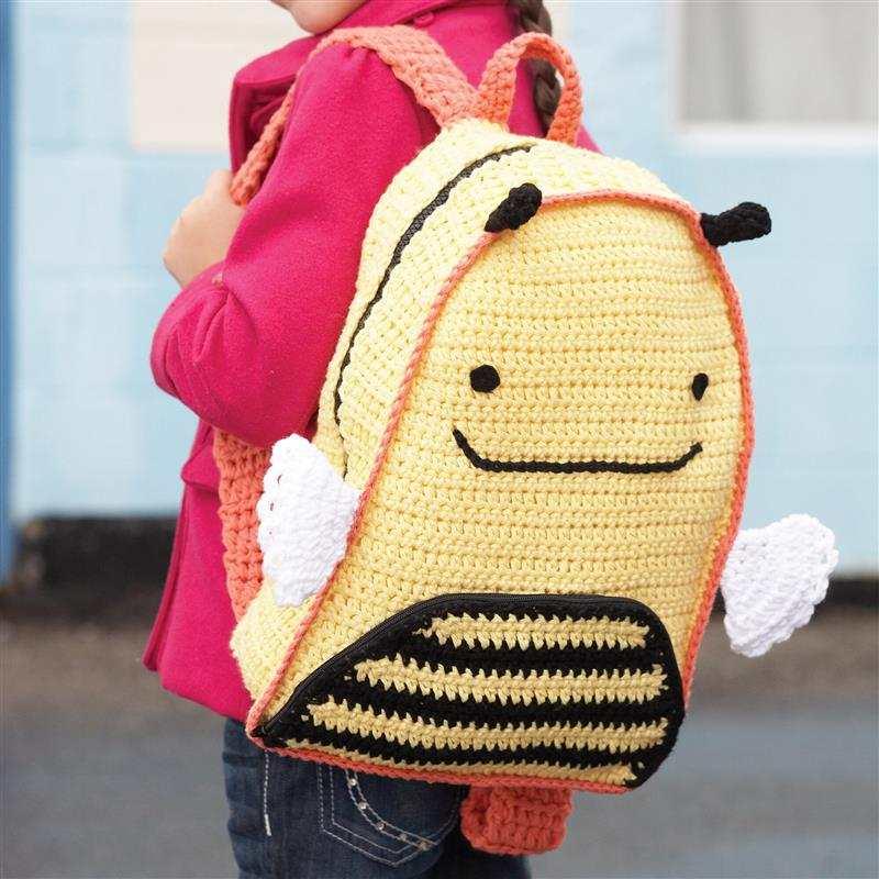 mochila de croche escolar