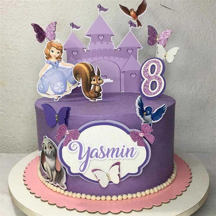 bolo da princesa sofia com topo