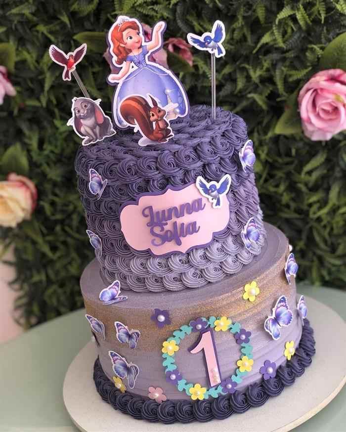 bolo da princesa sofia de 1 ano