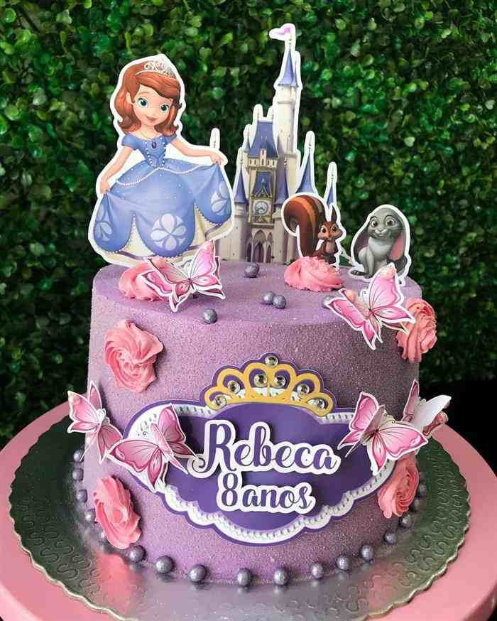 bolo da princesa sofia de aniversário