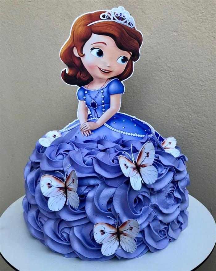 bolo da princesa sofia de chantilly