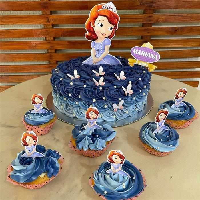 bolo da princesa sofia de chantininho