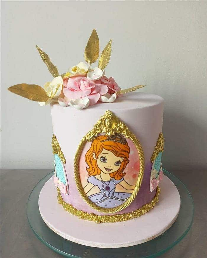 bolo da princesa sofia de pasta americana