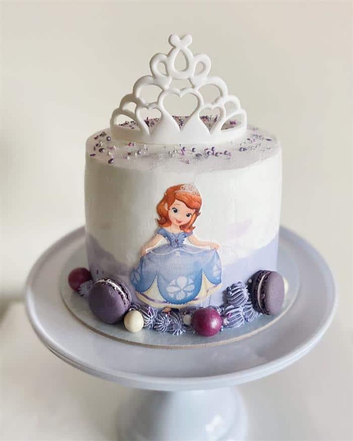 bolo da princesa sofia de um andar