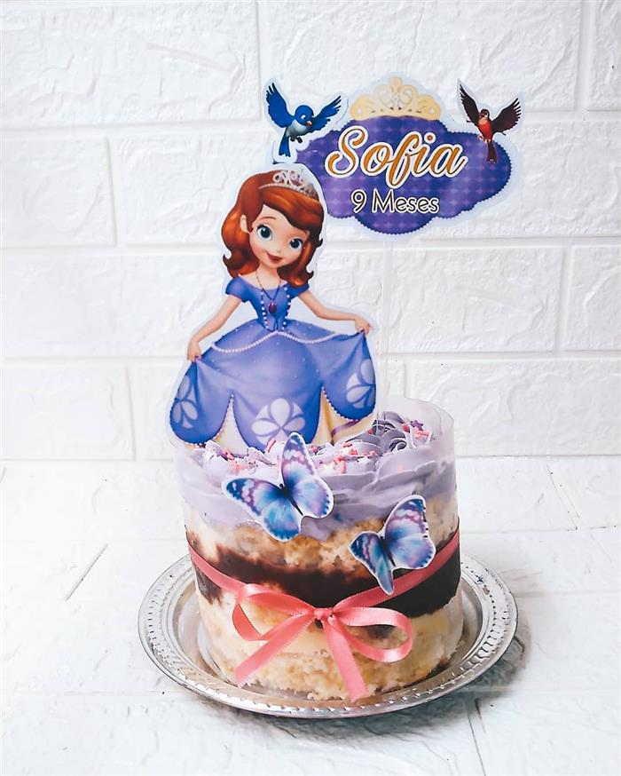 bolo da princesa sofia no acetato