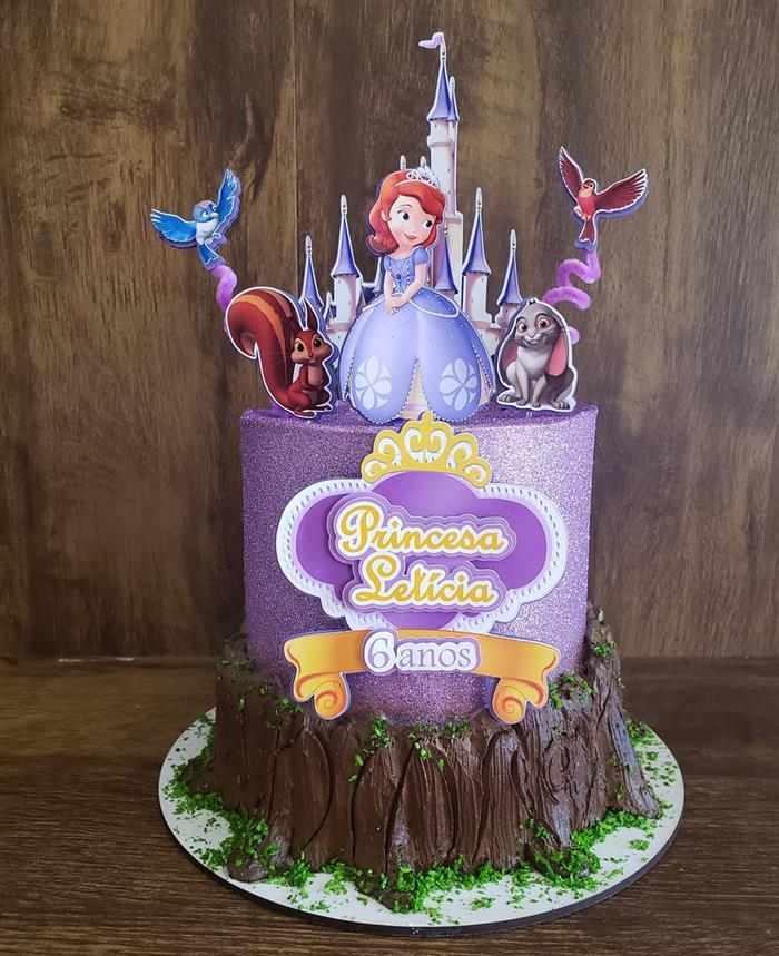 bolo da princesa sofia