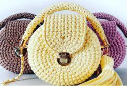 modelos de bolsas redondas em croche