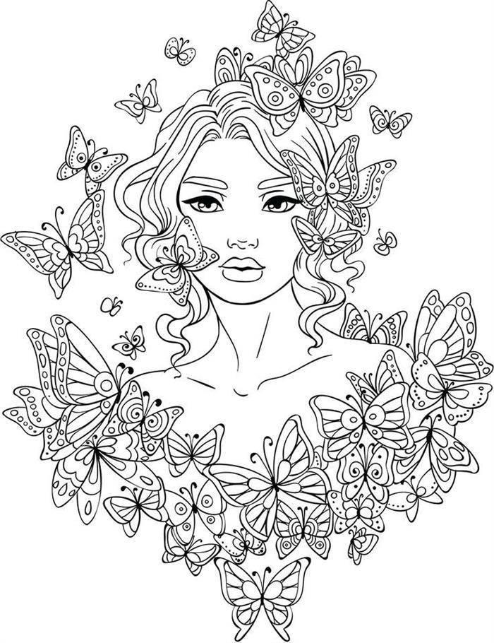 boneca com borboletas
