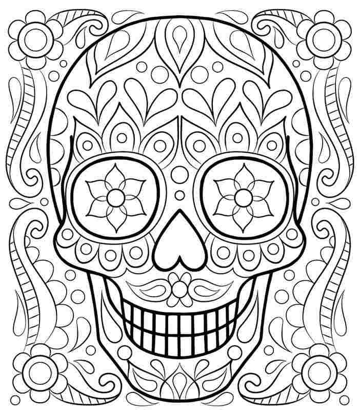 caveira mexicana para pintura