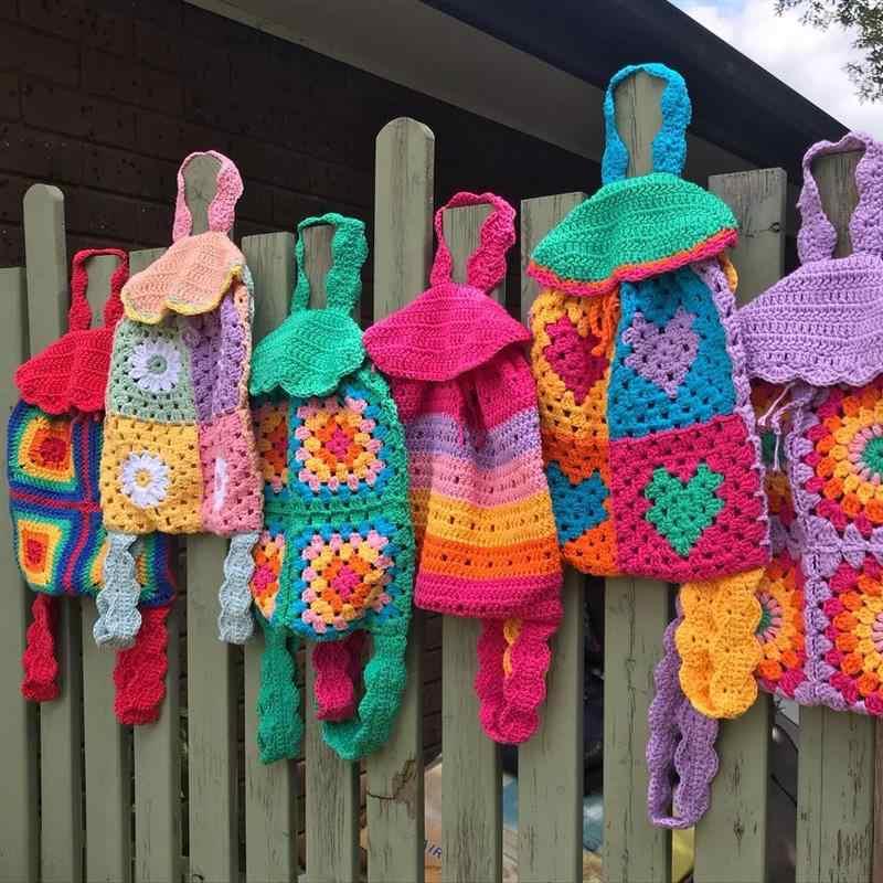 como fazer mochila de croche