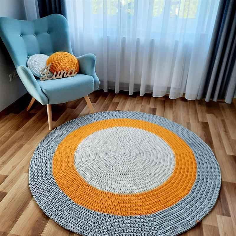 Tapetes de crochê modernos