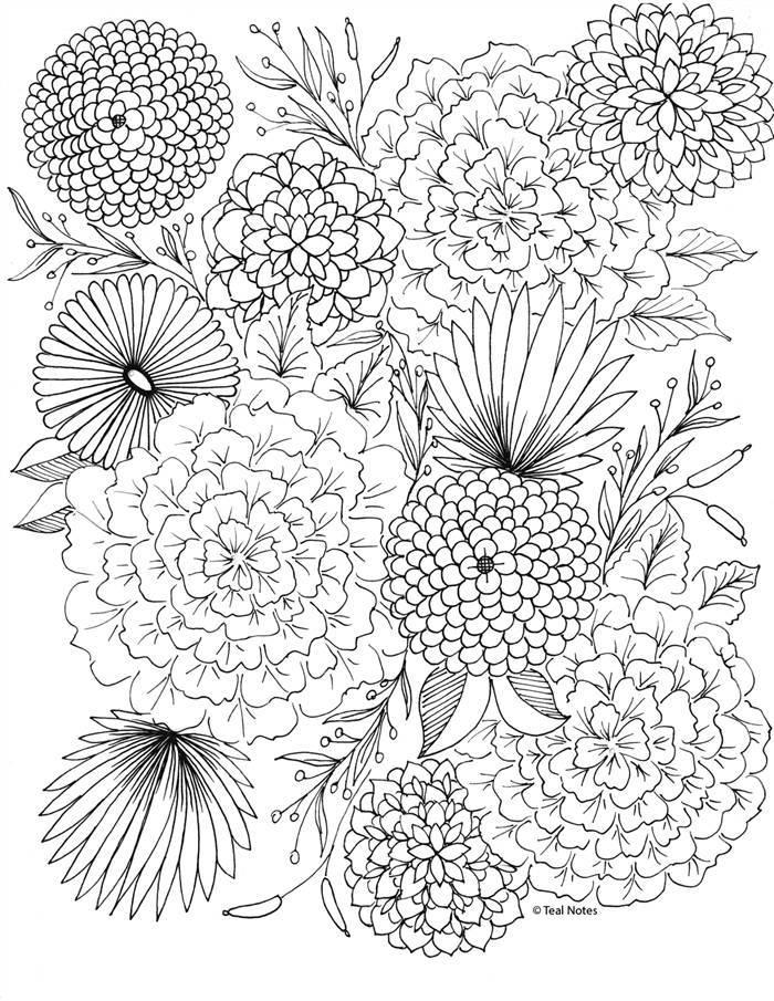 flores para pintura