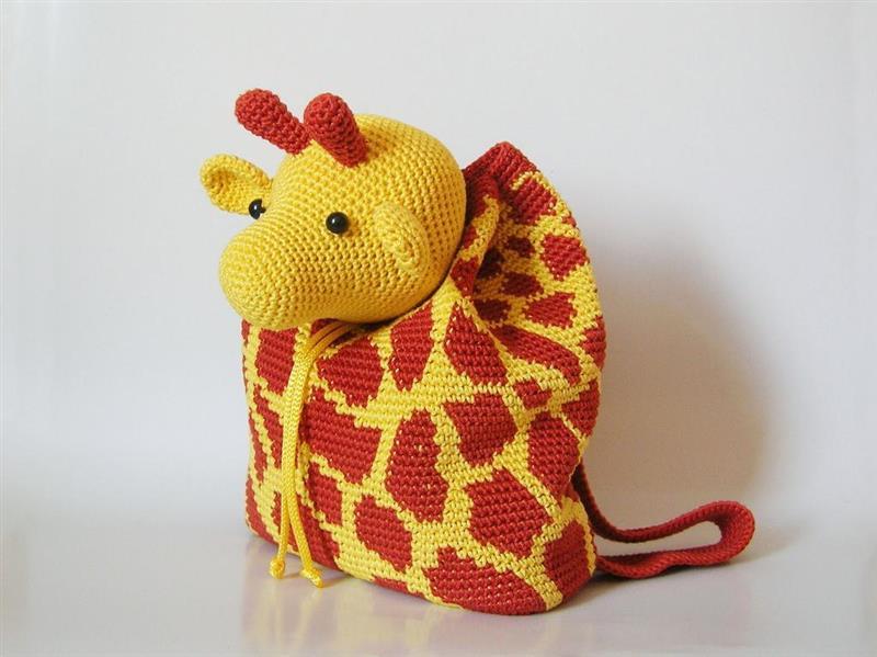mochila de croche infantil