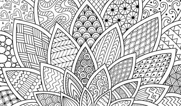Desenhos abstratos para adultos colorir