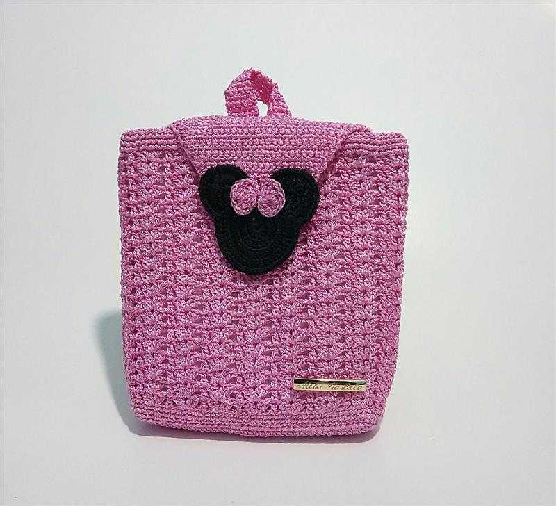 Minnie rosa com forro e zíper