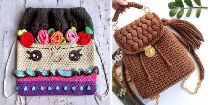 mochilas diferentes de croche