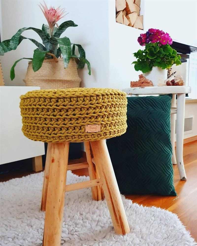 capa para banquinho de madeira