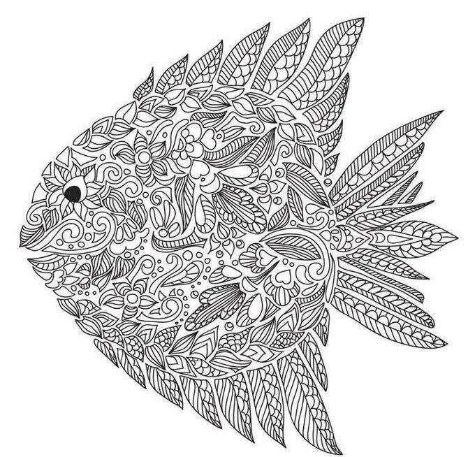 desenho de peixe para adulto colorir