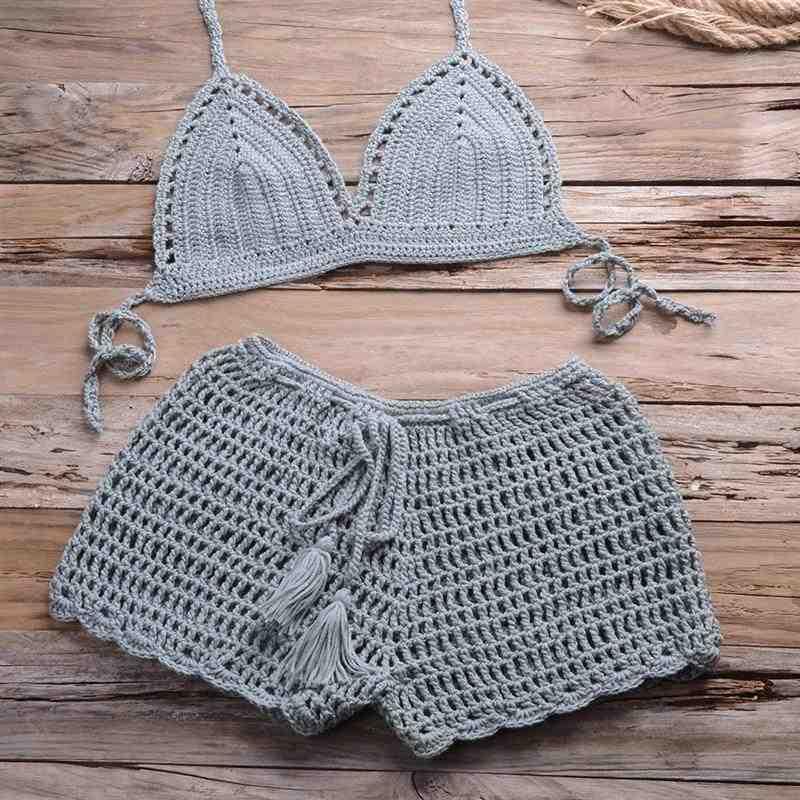 conjunto de crochê praiano