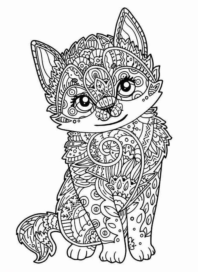 raposinha em Desenho para adultos colorir