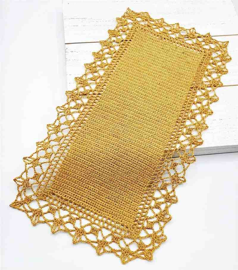 trilho de mesa em crochê fácil de fazer