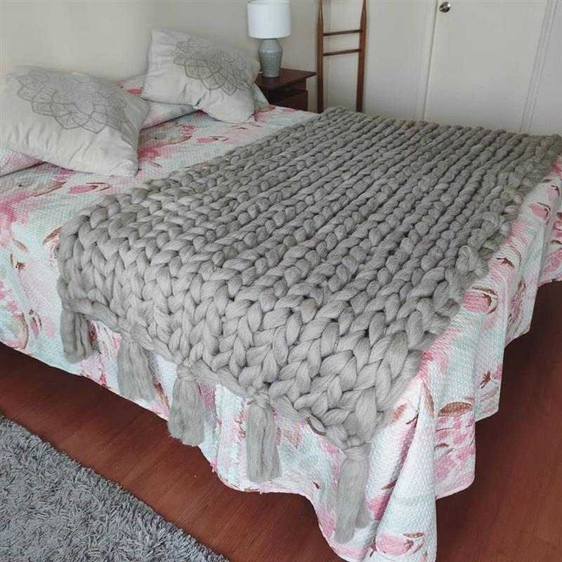 peseira maxi tricot com franja