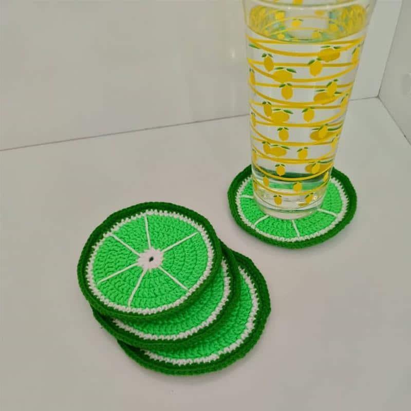 Kit porta copos limão