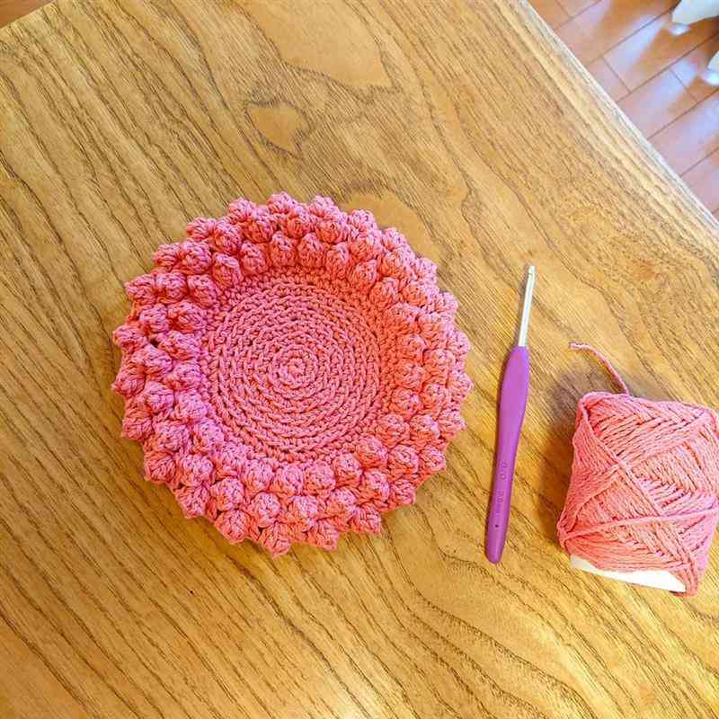 rosa com ponto pipoca