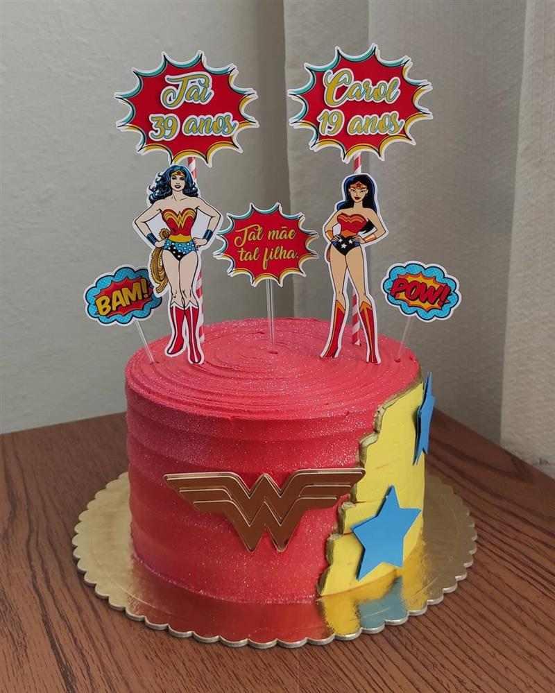 bolo de aniversario mae e filha