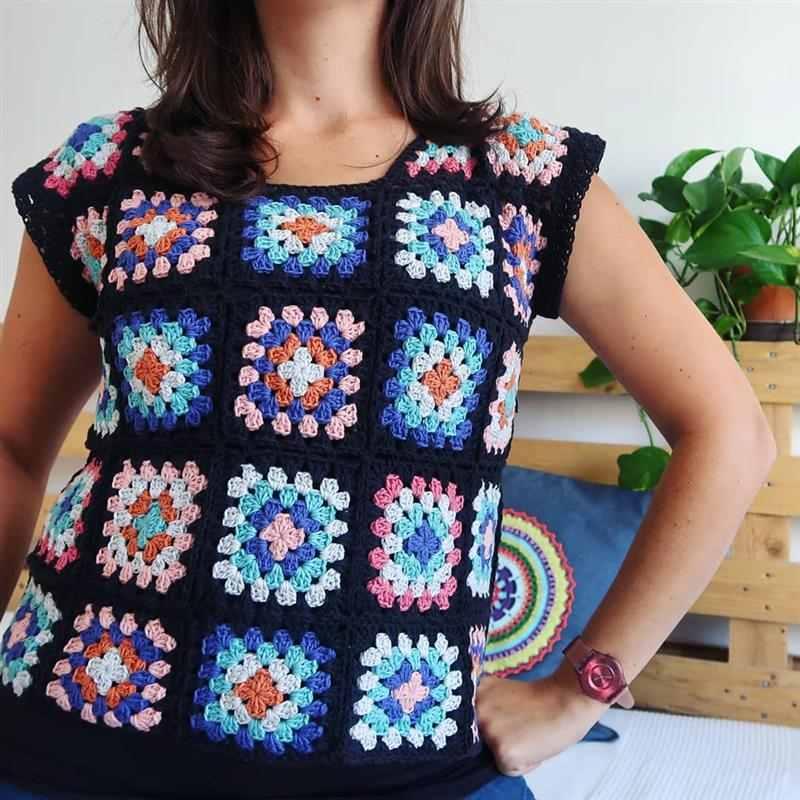 Blusas lindíssimas de crochê square