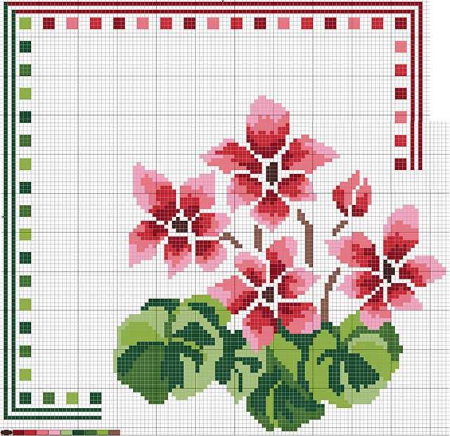 graficos de ponto cruz de flores para imprimir