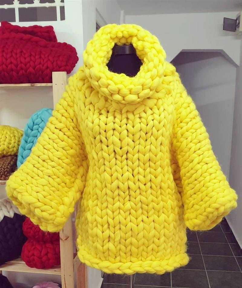 blusa de frio de maxi tricot