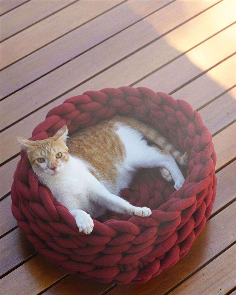 cama para gato de maxi tricot