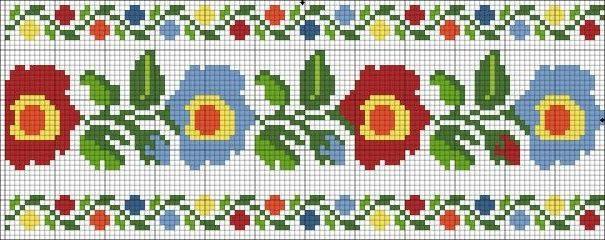 graficos de ponto cruz flores para iniciantes