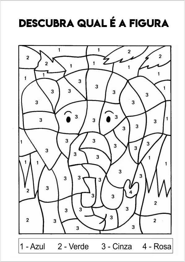 elefante para colorir