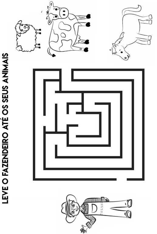 labirinto para colorir