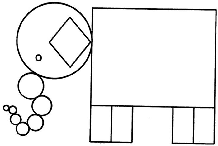 elefante de formas geometricas