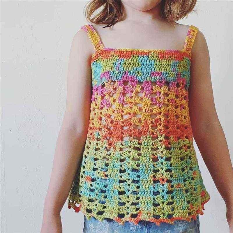 Blusa de crochê infantil