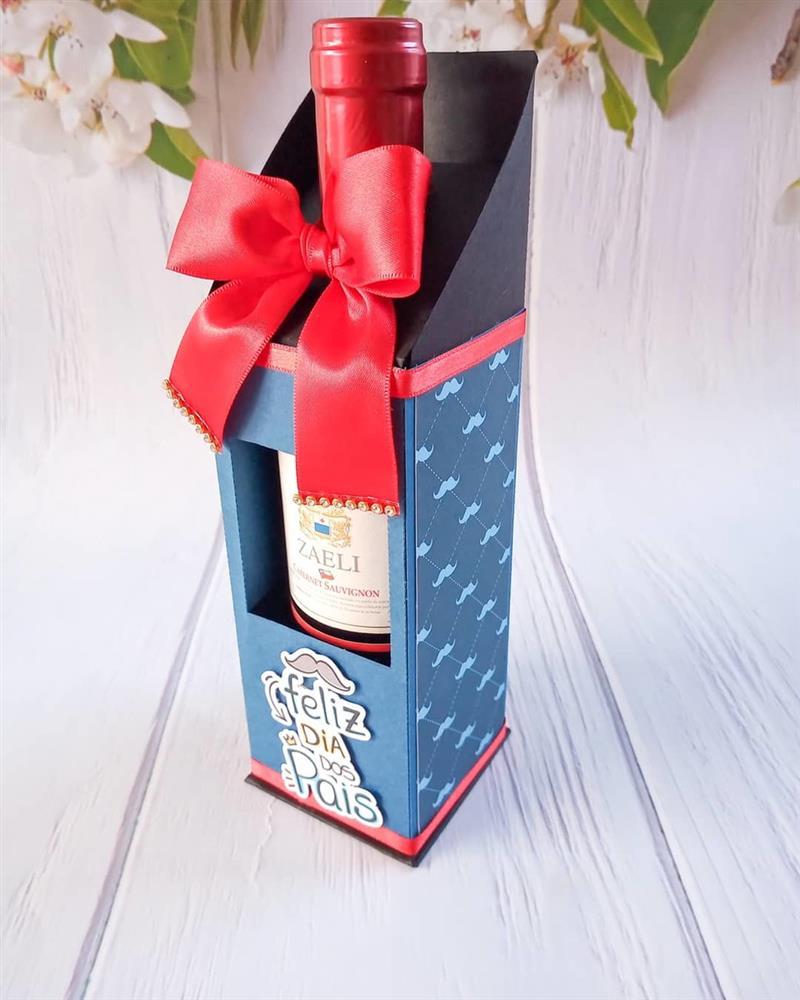 caixa de vinho