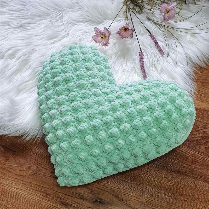Almofada em formato de coração