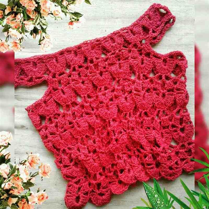 cropped de croche